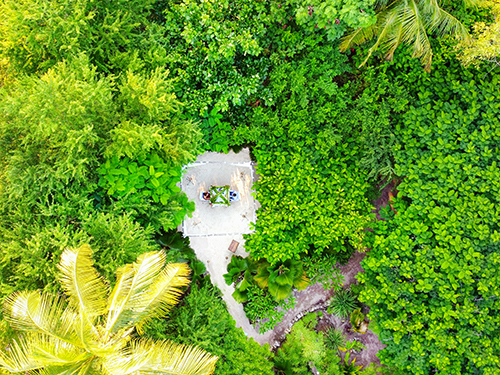 Garden Nyota Dining area Drone View